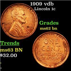 1909 vdb Lincoln Cent 1c Grades Select Unc BN