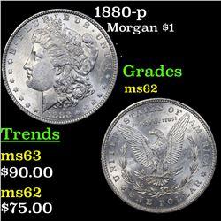 1880-p Morgan Dollar $1 Grades Select Unc