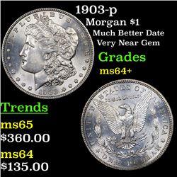 1903-p Morgan Dollar $1 Grades Choice+ Unc