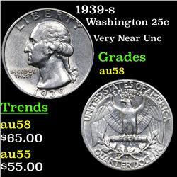 1939-s Washington Quarter 25c Grades Choice AU/BU Slider