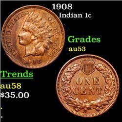 1908 Indian Cent 1c Grades Select AU