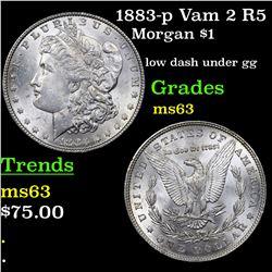 1883-p Vam 2 R5 Morgan Dollar $1 Grades Select Unc