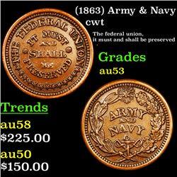 (1863) Army & Navy Civil War Token 1c Grades Select AU