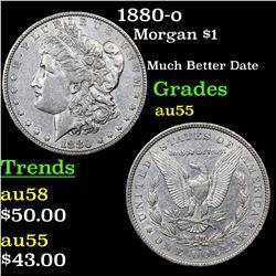 1880-o Morgan Dollar $1 Grades Choice AU