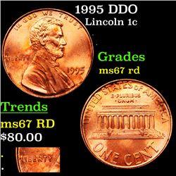 1995 DDO Lincoln Cent 1c Grades GEM++ Unc RD