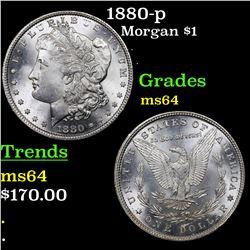 1880-p Morgan Dollar $1 Grades Choice Unc