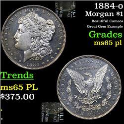 1884-o Morgan Dollar $1 Grades GEM Unc PL