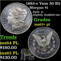 1883-o Vam 30 R5 Morgan Dollar $1 Grades Select Unc+ PL