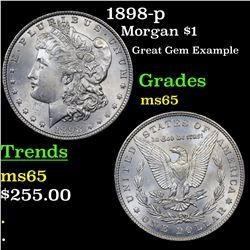 1898-p Morgan Dollar $1 Grades GEM Unc