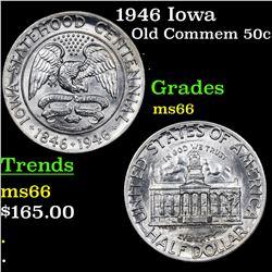 1946 Iowa Old Commem Half Dollar 50c Grades GEM+ Unc