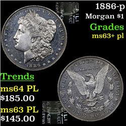 1886-p Morgan Dollar $1 Grades Select Unc+ PL