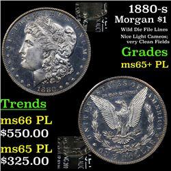 1880-s Morgan Dollar $1 Grades GEM+ PL