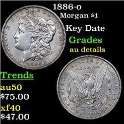 1886-o Morgan Dollar $1 Grades AU Details