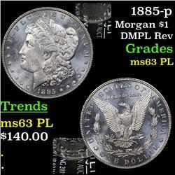 1885-p Morgan Dollar $1 Grades Select Unc PL