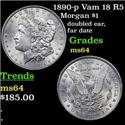 1890-p Vam 18 R5 Morgan Dollar $1 Grades Choice Unc
