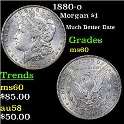 1880-o Morgan Dollar $1 Grades BU