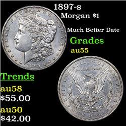1897-s Morgan Dollar $1 Grades Choice AU