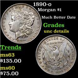1890-o Morgan Dollar $1 Grades Unc Details