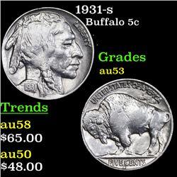 1931-s Buffalo Nickel 5c Grades Select AU