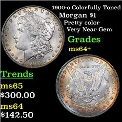 1900-o Colorfully Toned Morgan Dollar $1 Grades Choice+ Unc
