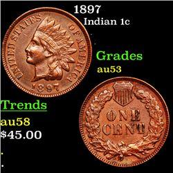 1897 Indian Cent 1c Grades Select AU