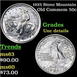 1925 Stone Mountain Old Commem Half Dollar 50c Grades Unc Details