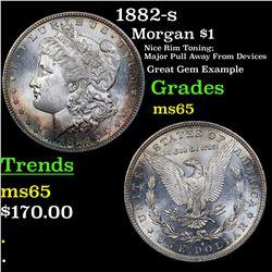 1882-s Morgan Dollar $1 Grades GEM Unc