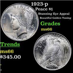 1923-p Peace Dollar $1 Grades GEM+ Unc