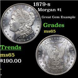 1879-s Morgan Dollar $1 Grades GEM Unc