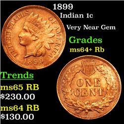 1899 Indian Cent 1c Grades Choice+ Unc RB