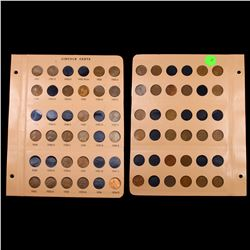 Partial Lincoln Cent Page 1921-1934 23 coins