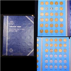 Partial Lincoln cent Book 1941-1955 60 coins
