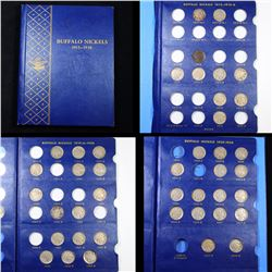 Parital Buffalo Nickel Book Book 1913-1938 42 coins