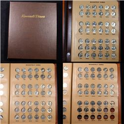 ***Auction Highlight*** Complete Roosevelt Dime Book 1946-2001 119 coins (fc)