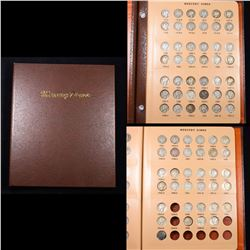 ***Auction Highlight*** Near Complete Mercury Dime Book 1916-1977 76 coins (fc)