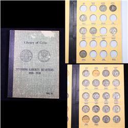 ***Auction Highlight*** Partial Standing Liberty Quarter Book 1917-1930 25 coins (fc)