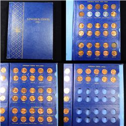 Near Complete Lincoln Cent Book 1941-1969 96 coins