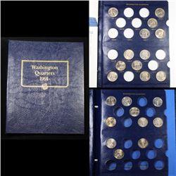 Partial Washington Quarter Book 1991-2000 21 coins