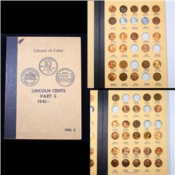Partial Lincoln Cent Book 1941-1961 49 coins