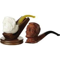 Two Abraham Lincoln Pipes, One by Goodewaagen