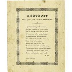 George Washington Acrostic Poem