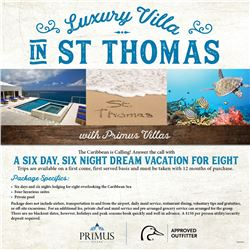 St Thomas Dreams Vacation For 8