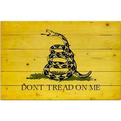 Don't Tread on Me Wood Flag
