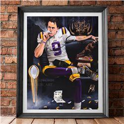 """""""Joe Burrow """"Burreaux"""" artwork by artist Jordan Spector"""