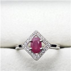 SILVER RUBY (0.5CT) RING