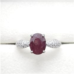 SILVER RUBY (2.4CT) RING