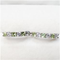 SILVER PERIDOT  EARRINGS