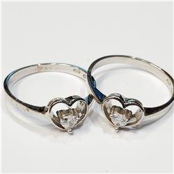 SILVER LOT OF 2 CZ RING
