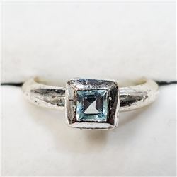 SILVER BLUE TOPAZ(0.5CT) RING