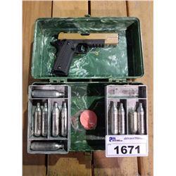 PELLET GUN IN CASE REPLICA COLT 45